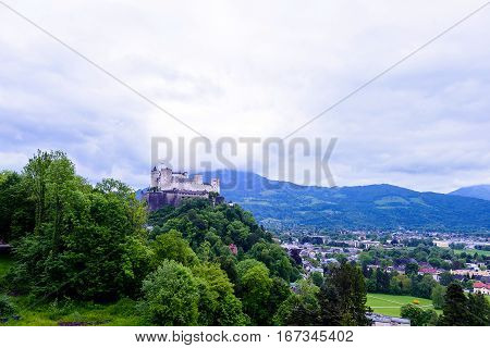 Hohensalzburg Fortress Famous place Unesco Heritage. Festung Hohensalzburg, Salzburg Austria, Europe