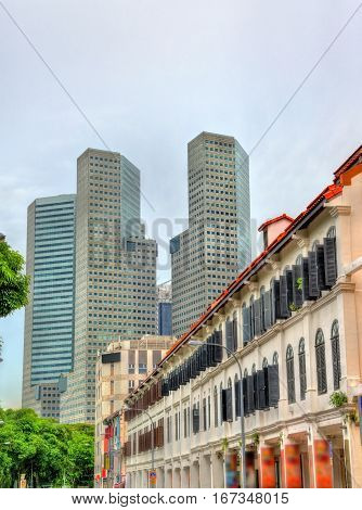 Buildings in Singapore Central Business District, Southeast Asia