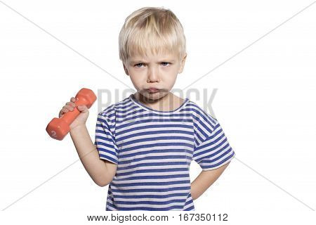 Boy With Dumbbell