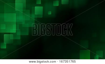 Green Abstract Background Of Blurry Squares