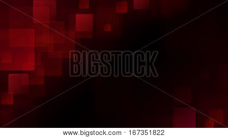 Red Abstract Background Of Blurry Squares
