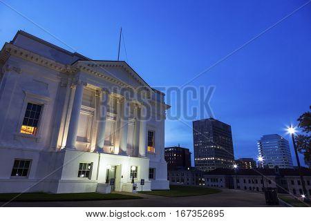 State Capitol Building of Virginia. Richmond Virginia USA.