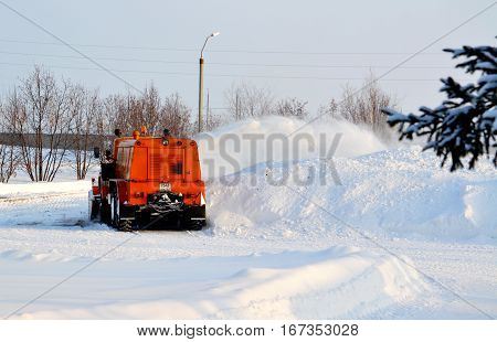 Snow snowdrifts in winter helps to take away person modern technology