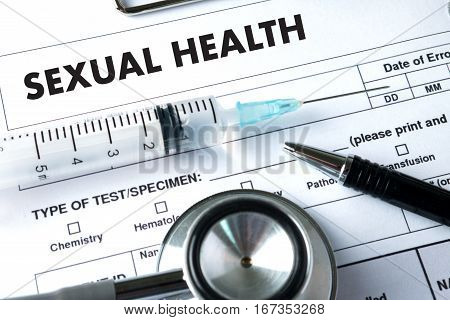 SEXUAL HEALTH Application Concept health care adult, aids
