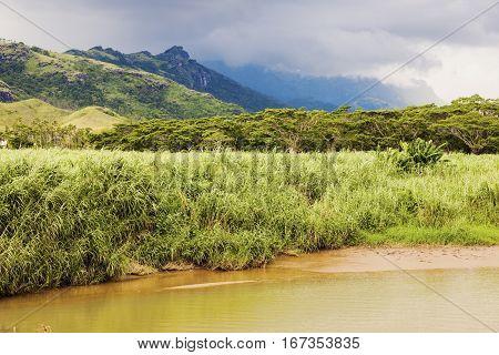Fiji landscape - Viti Levu Island. Viti Levu Fiji.