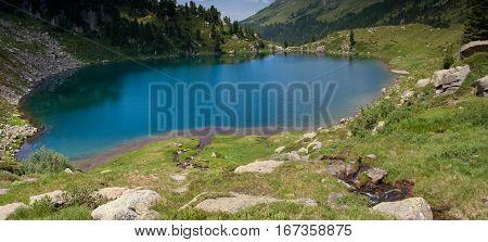 Lagorai Mountain Range. Trentino Alto Adige. Italy, Stellune Lake