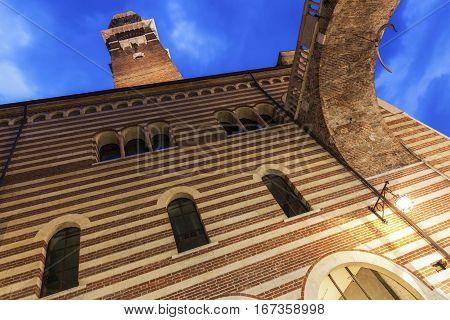 Lamberti tower in Verona. Verona Veneto Italy Verona Veneto Italy