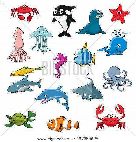 Sea Life Cartoon Vector Photo Free Trial Bigstock