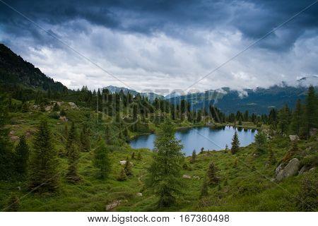 Lagorai Mountain. Trentino Alto Adige. Italy, Road To Olbricon Lake