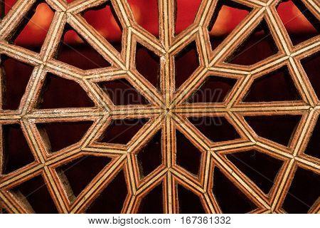 Ottoman Art In Geometric Patterns On Wood