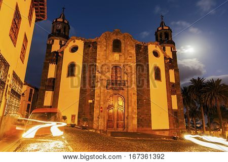 Immaculate Conception Church in La Orotava. Orotava Tenerife Canary Islands Spain.