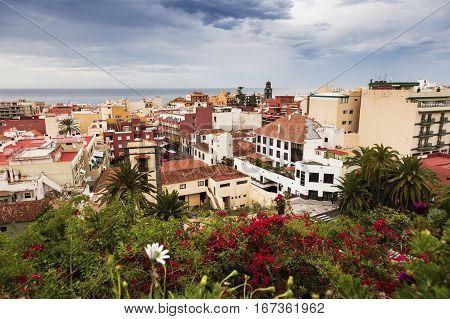 Panorama of Puerto de la Cruz. Puerto de la Cruz Tenerife Canary Islands Spain.