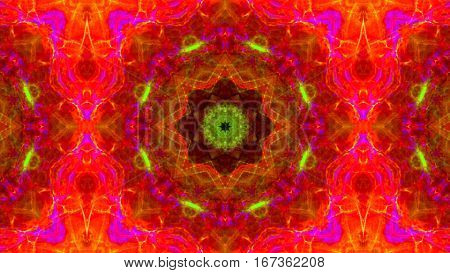 hot pink flower fractal kaleidoscope back ground