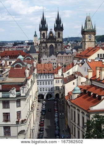 A view of the city of Prague in the Czech Republic.