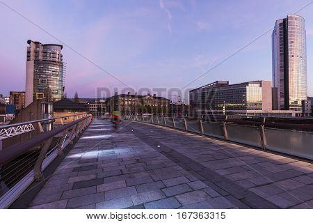 Belfast at sunrise. Belfast Northern Ireland United Kingdom.