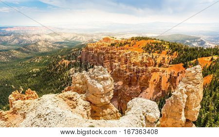 Top view on Bryce Canyon National Park