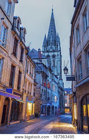 St Saviour's Church in Caen. Caen Normandy France.