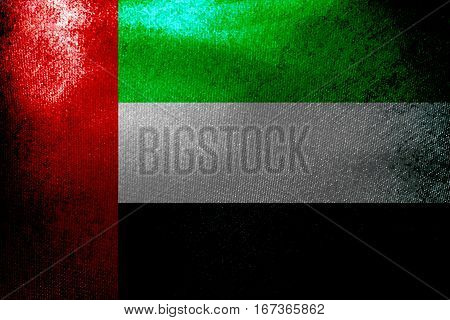 United Arab Emirates flag 3D illustration symbol, UAE Nation flag
