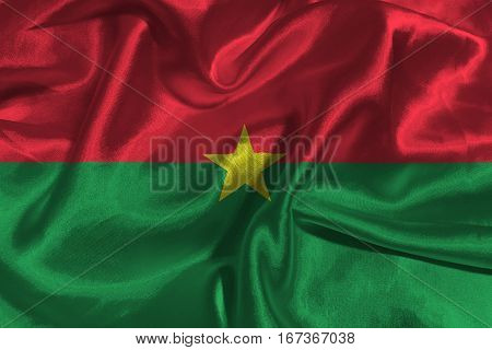 Burkina Faso flag ,Burkina Faso national flag 3D illustration symbol