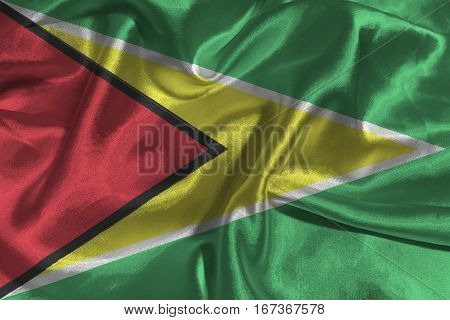Guyana flag ,Cooperative Republic of Guyana national flag 3D illustration symbol.
