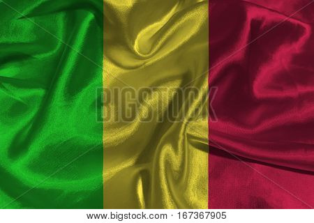 Mali national flag 3D illustration symbol. Mali flag. .