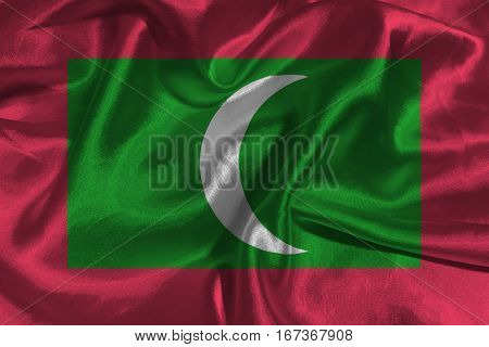 Maldives flag ,Maldives flag 3D illustration symbol