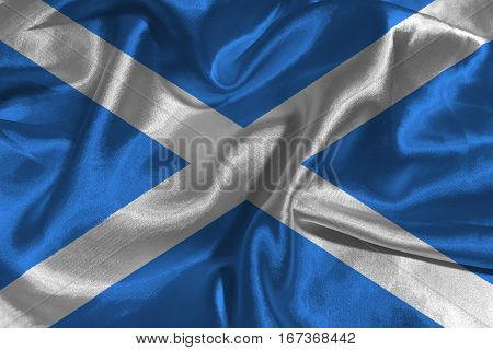 Scotland national flag 3D illustration symbol .