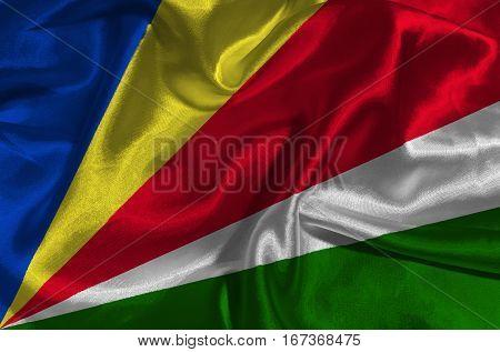 Seychelles flag ,Seychelles national flag 3D illustration symbol