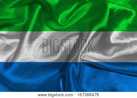 Sierra Leone flag ,Sierra Leone national flag 3D illustration symbol