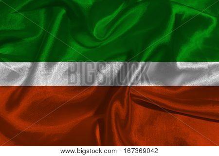Tatarstan flag 3D illustration symbo l .