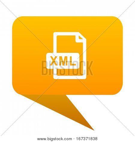 xml file orange bulb web icon isolated..