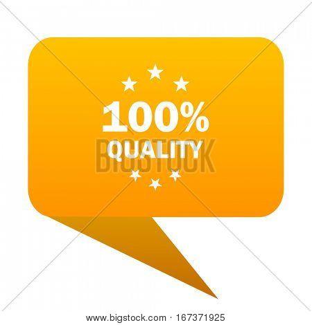 quality orange bulb web icon isolated.