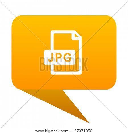 jpg file orange bulb web icon isolated..