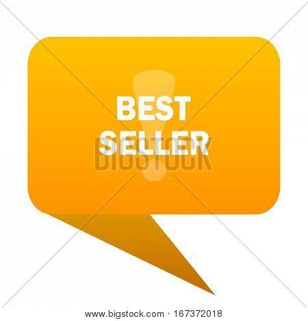 best seller orange bulb web icon isolated.