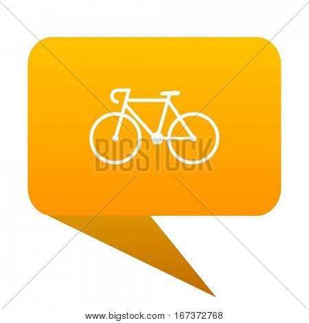bicycle orange bulb web icon isolated.