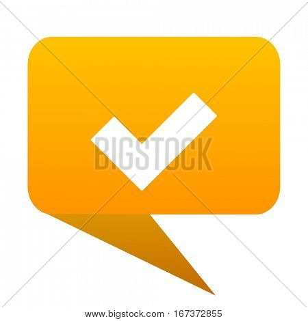 accept orange bulb web icon isolated. poster