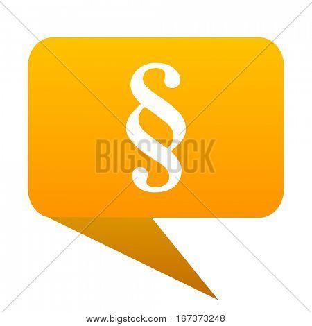 paragraph orange bulb web icon isolated.