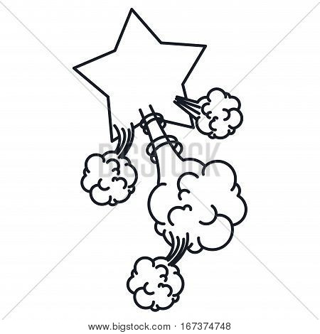 star explosion steam cloud pop art with cumulus vector illustration