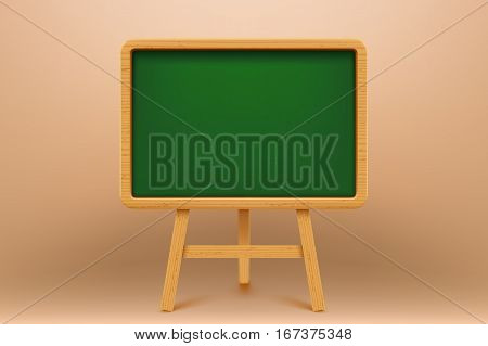 illustration of green wooden flip chart on bright background
