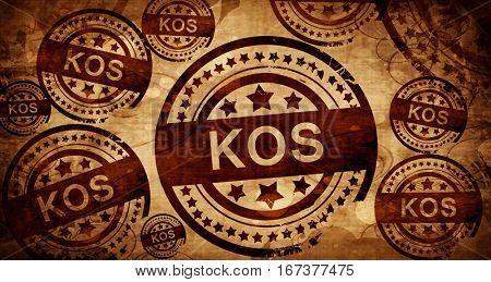 Kos, vintage stamp on paper background
