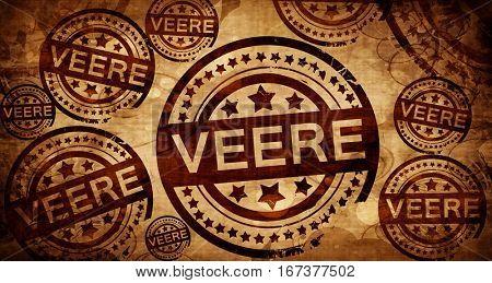 Veere, vintage stamp on paper background