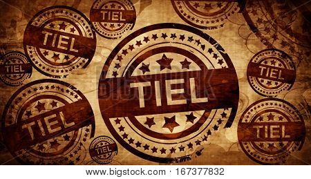 Tiel, vintage stamp on paper background