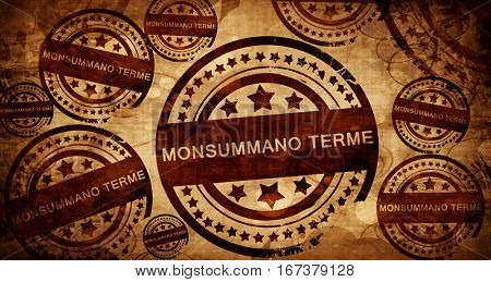 Monsummano terme, vintage stamp on paper background