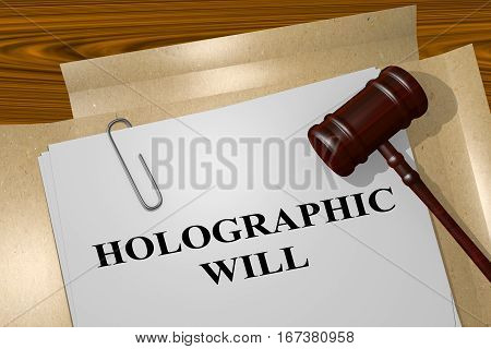 Holographic Will Concept