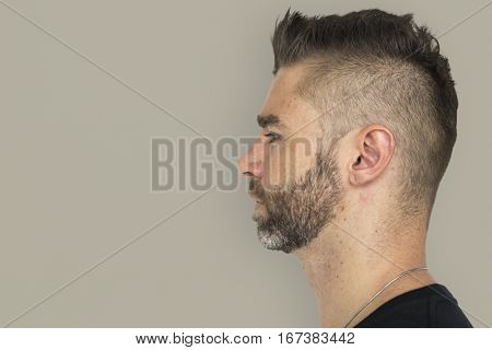 Men Adult Spiky Hair Side