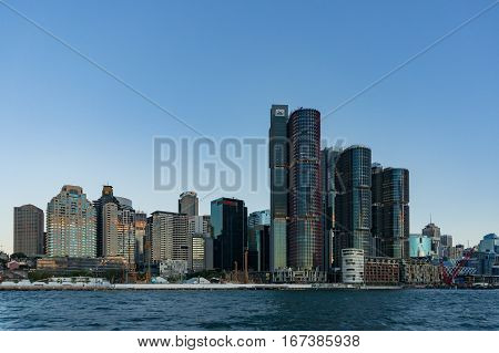 Sydney Cbd Cityscape With Barangaroo Buildings