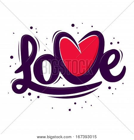 Vector stock of abstract love hand writing in custom typography