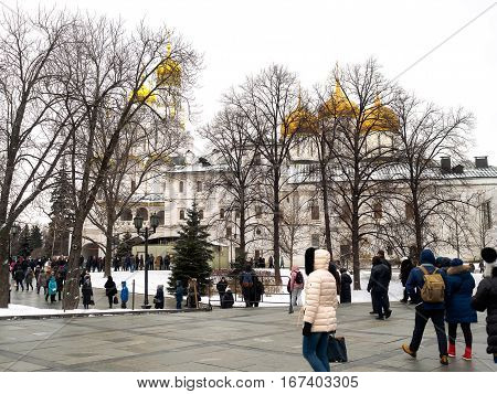 Inside Moscow Kremlin. Tour of the Kremlin January 3 2017.