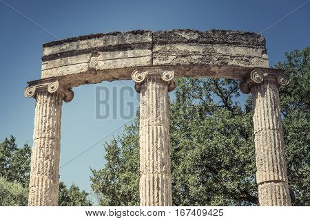Ruin in Olympia - Sanctuary of ancient Greece, Peloponnese