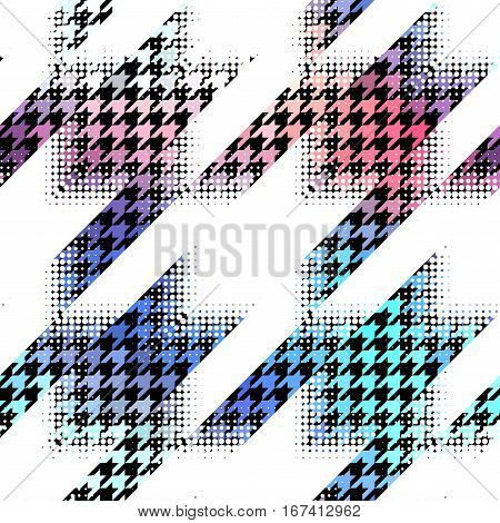 Seamless geometric pattern. Classic Hounds-tooth pattern in abstract style